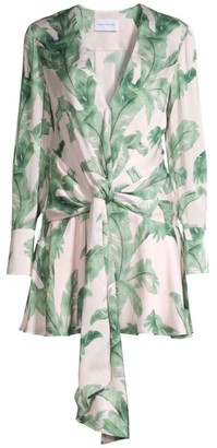 Significant Other Florence Tropical Print Long-Sleeve Mini Dress