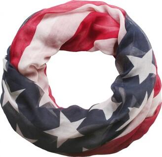 styleBREAKER loop tube scarf in United states flag design 01014034