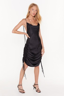 Nasty GalNasty Gal Womens In Love With The Drape Of You Satin Cowl Dress - Black - 4, Black