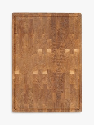 Croft Collection Oak Wood End Grain Chopping Board, Natural