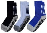 De-Luxe Deluxe Anti Non Skid Slip Slipper Hospital Socks with grips for Adults Men Women (Shoe Size : 6-10, )