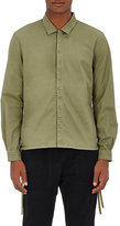 Stampd Men's Cotton-Blend Twill Shirt-DARK GREEN
