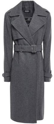 DKNY Wool-blend Felt Trench Coat