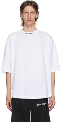 Palm Angels White Classic Logo T-Shirt