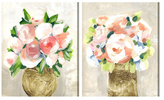Oliver Gal Peonies (Canvas) (Set of 2)