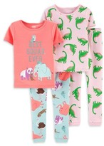 Carter's Child Of Mine By Child of Mine by Baby Toddler Girl Short Sleeve Snug Fit Cotton Pajamas, 4pc Set