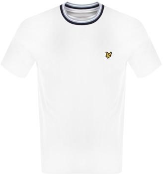 Lyle & Scott Multi Rib Crew Neck T Shirt White