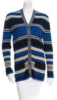 Lanvin Stripe Pattern Cardigan w/ Tags