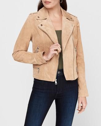 Express Genuine Suede Moto Jacket