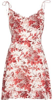 Reformation Esther floral-print mini dress