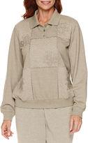 Alfred Dunner Sweet Nothings Long Sleeve Sweatshirt