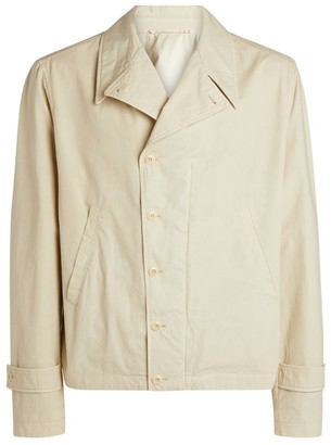 Lemaire Asymmetric Cotton Shirt Jacket