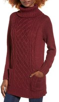Cotton Emporium Women's Front Pocket Turtleneck Tunic