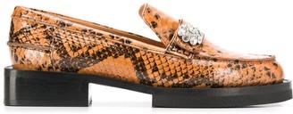 Ganni embellished leather loafers