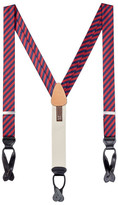 Trafalgar Striped Silk Suspenders