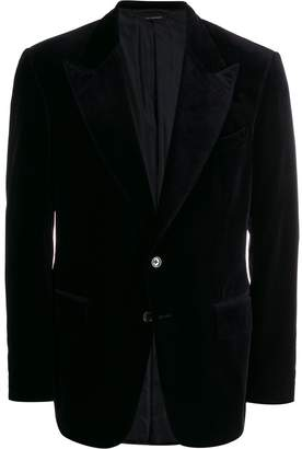 Tom Ford velour single-breasted blazer