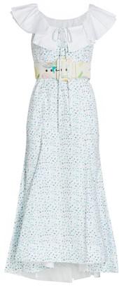 Rosie Assoulin Peter Pan Collared Midi Dress