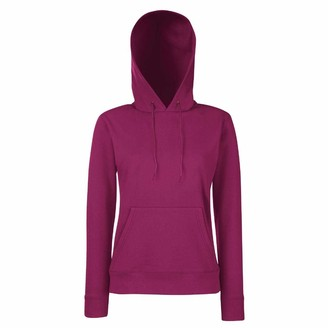 Fruit of the Loom 62038Womens Ladies Lady Fit Hooded Sweatshirt Womens Hoodie Lady-Fit Hooded Sweat