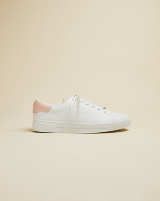 Ted Baker Leather Trainers With Pastel Detail