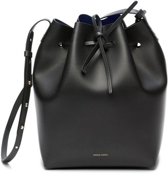 Mansur Gavriel Black Bucket Bag - Blu