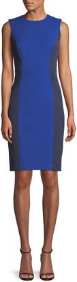 Milly Sleeveless Colorblock Scuba Dress