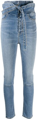 Unravel Project Ultra-High Waisted Skinny Jeans
