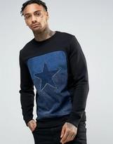 Diesel DAVID Denim Star Sweatshirt