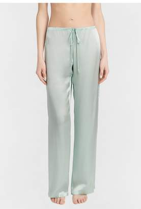 La Perla Petit Macrame Mint Green Silk Trousers