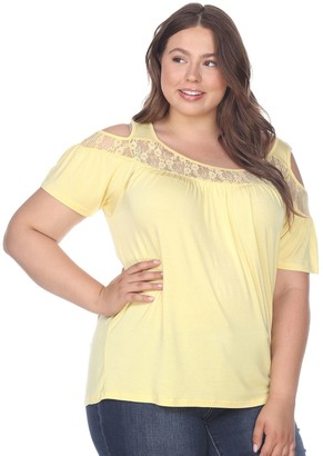White Mark Plus Size Cold-Shoulder Top