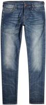 True Religion Tony Dark Blue Faded Skinny Jeans