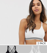 Asos DESIGN Maternity 2 pack nursing supersoft jersey bra with removable pad