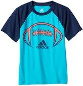 adidas Boys 4-7x climalite Colorblock Raglan Sport Tee