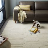 west elm Honeycomb Textured Wool Rug - Ivory