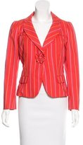 Marc Jacobs Striped Single Button Blazer