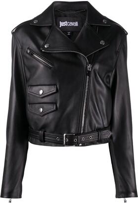 Just Cavalli Leather-Look Jacket