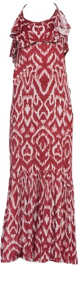 Cliché Reborn Burgundy Maxi Cross Back Summer Dress