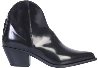 MSGM Back Zip Ankle Boots