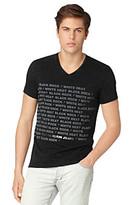 "Calvin Klein Jeans Men's Black ""Paragraph Rock"" Graphic V-Neck Tee"