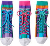 LittleMissMatched Girls 4-9 Little Miss Matched 3-pk. Colorblock Sneaker Anklet Socks