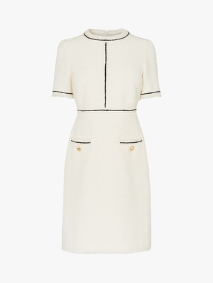 LK Bennett Mercer Tweed Dress, Cream
