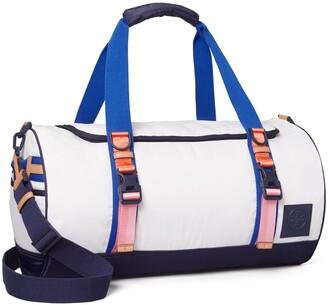 Tory Burch Ripstop Nylon Color-Block Duffle Bag