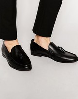 Frank Wright Tassel Loafer In Leather