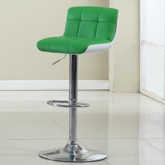 Hokku Designs Swivel Adjustable Height Bar Stool Upholstery: Apple Green