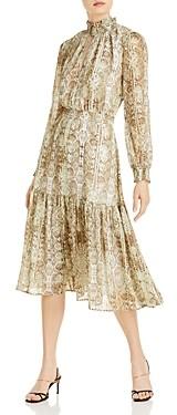 WAYF Alston Tiered Smocked Midi Dress