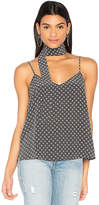 AG Adriano Goldschmied Lisette Tank with Scarf in Gray