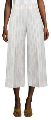 Rebecca Taylor Cropped Striped Pants