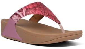 FitFlop Women's Lulu Snake-Print Thong Sandals Women's Shoes