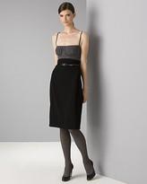 Women's Sleeveless Double Crepe Pleated Bodice Camisole Dress