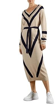 Ted Baker Bertta Chevron Midi Dress