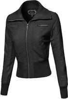 Awesome21 Classic Biker Jacket Various Colors Black Size M